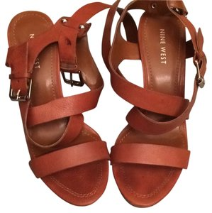 Nine West Summer Strappy Cognac Fun Sandals