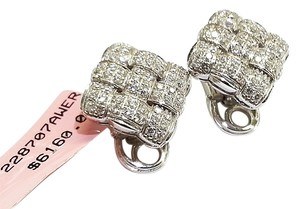Roberto Coin ROBERTO COIN Ladies Earrings With Diamonds in 18 karat white gold