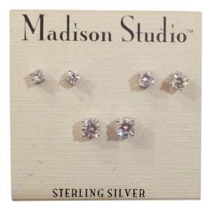 Madison Studio Madison Studio Sterling Silver CZ Stud Set