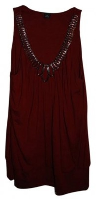 White House | Black Market Top deep red