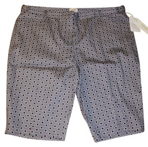 Laundry by Shelli Segal Bermuda Shorts Navy Blue and White