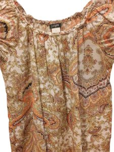 J.Crew Top Multi Paisley