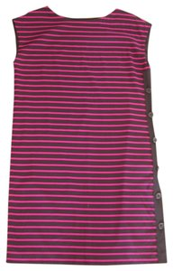 DKNY Purple Stripes Fully Lined Dress