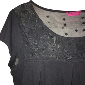 BCBGeneration Lace Top Grey