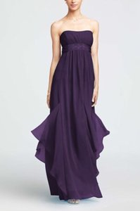 David's Bridal Purple In Lapis Formal Bridesmaid/Mob Dress Size 6 (S)