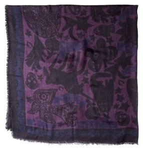 Alexander McQueen Alexander Mcqueen Fairytale Big Logo Print Pashmina/ Scarf New With Tags