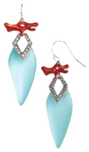 Alexis Bittar Alexis Bittar Coral Deco Lucite Baguette Drop Earrings In Blue New w/ Tags