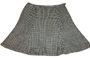 Chadwicks Women's Size 14 Petite Skirt Black and White Plaid
