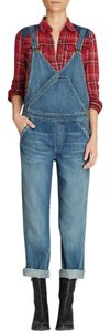 Free People Overalls Relaxed Fit Jeans-Medium Wash