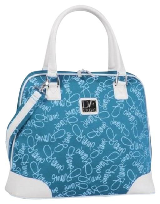 Item - Color On The Go Teal White Signature Polly Twill Weekend/Travel Bag