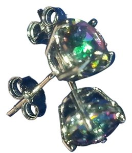 Other 2 cttw Topaz earrings in 925 sterling silver setting
