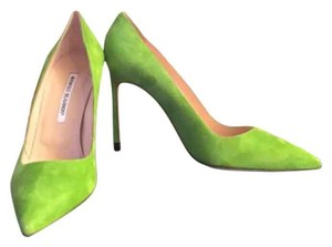 Manolo Blahnik Green Pumps