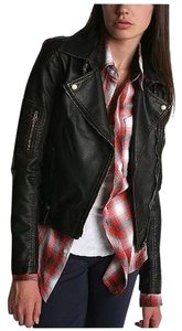 Silence + Noise Leather Leather Moto Leather Jacket
