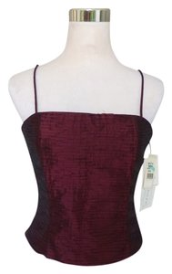 Jessica McClintock Evening Sheen Wedding Top Burgundy