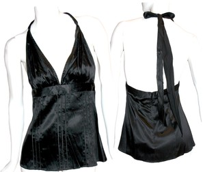Rock & Republic & Sexy Rare Silk Black Halter Top