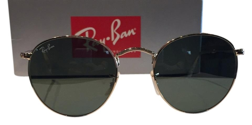1516cf4467 Ray-Ban Black with Gold Round Class Rb3447 001 50-21 Sunglasses ...
