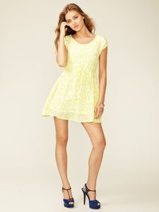 Alex short dress Yellow Summer Patterned Drawstring on Tradesy