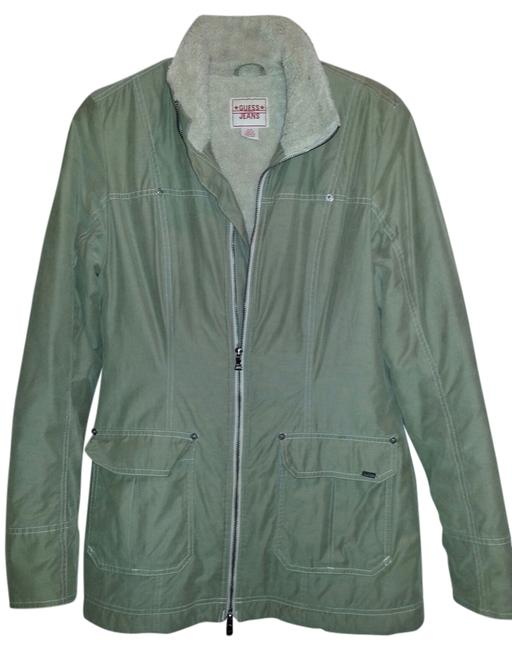 Preload https://item3.tradesy.com/images/guess-army-green-trench-coat-size-8-m-699902-0-0.jpg?width=400&height=650
