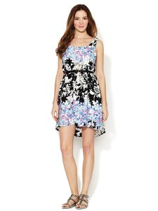 Marabelle short dress Black, Multi, Floral on Tradesy