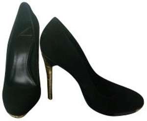 B Brian Atwood Black with gold Pumps