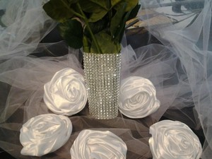 Silver Rhinestone Bouquet Wrap Wedding Wrapping Bling Holder
