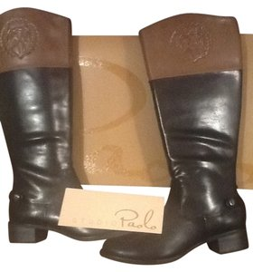 9a327e0946b Studio Paolo Tall Cresthead Black with Chestnut Crest Top Boots