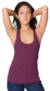 American Apparel Ribbed Racerback Sporty Top purple