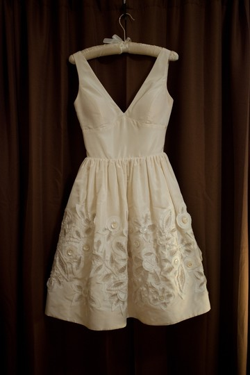 Oscar de la renta 82e08 wedding dress on sale 60 off for Oscar de la renta short wedding dress