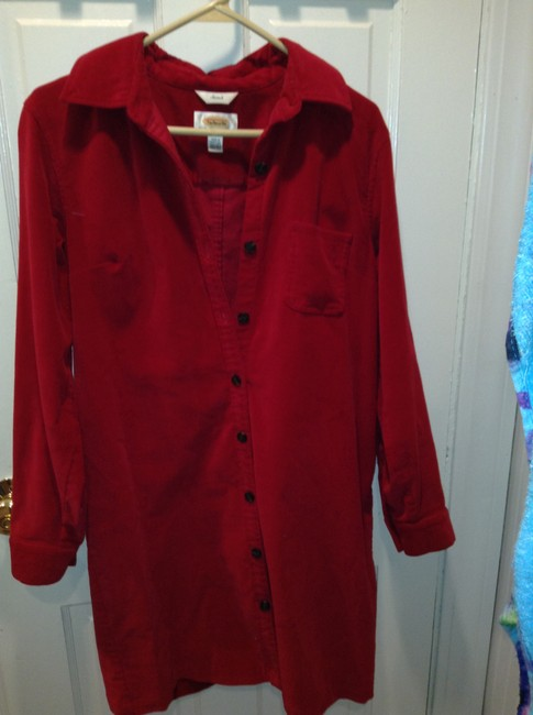 Talbots short dress Red Corduroy on Tradesy