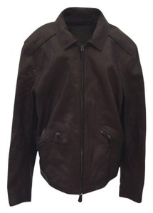 Coach Brown Leather Jacket