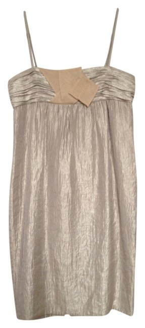 BCBGeneration Gold Spaghetti Strap Dress