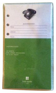 Kate Spade NWT Kate Spade Addresses Pages for Planner