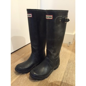 Hunter tall black rain boots Boots