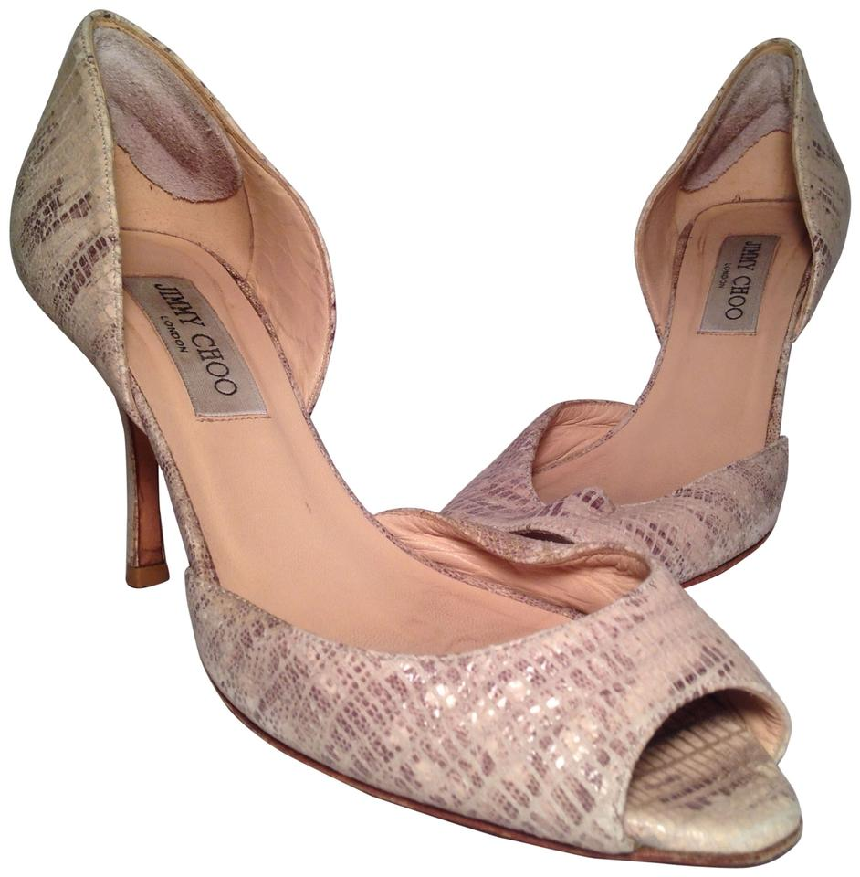 Jimmy Choo Taupe Snakeskin - - Snakeskin Pumps aed36a