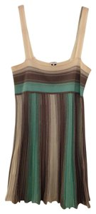M Missoni Babydoll Knit Metalic Spring Vacation Top Green