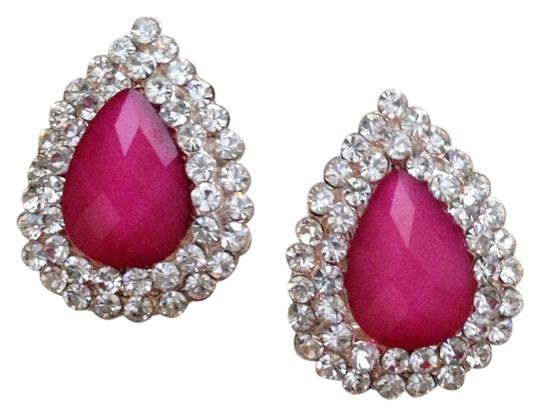 Preload https://item3.tradesy.com/images/pink-and-crystal-dazzling-rhinestone-pave-pear-earrings-700867-0-0.jpg?width=440&height=440