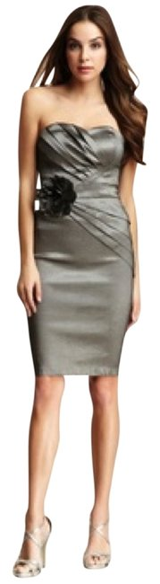 Romeo & Juliet Couture Wedding Guest Flower Pewter Dress