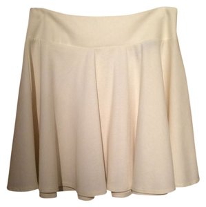Jella Couture Mini Skater Mini Skirt Cream