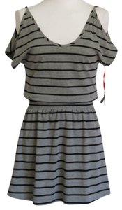 Poof Apparel short dress Gray/Black on Tradesy