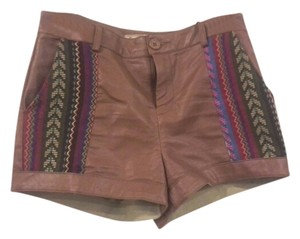 Flying Tomato Foreign Exchange High Waisted Shorts brown