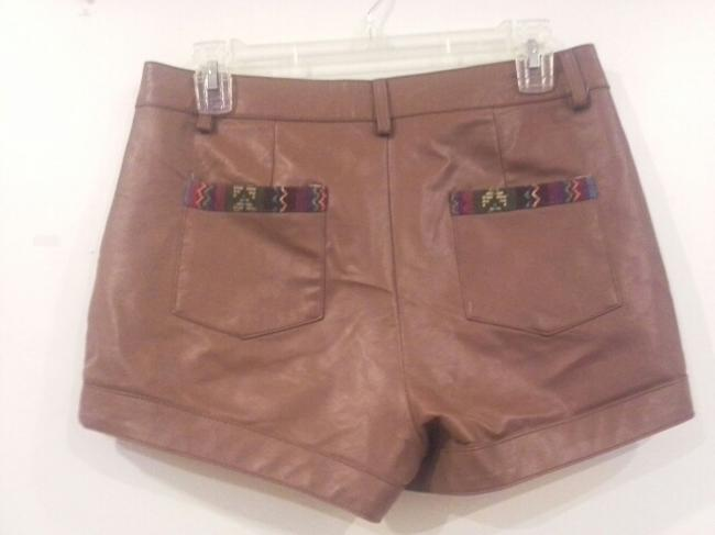 Flying Tomato Foreign Exchange High Waisted Shorts brown Image 3