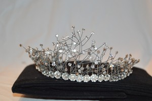 Bergdorf Goodman Handmade Tiara With Swarovski Crystals And Pearl Details From Bergdorf Goodman