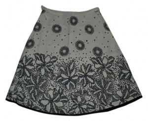 Willi Smith Skirt black and cream