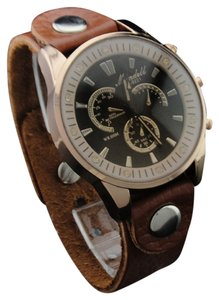 Mundell Unisex Vintage Quartz Fashion Watch Analog Leather Easy To Read