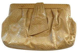 J. Renee Cross Body Leather Beige Clutch