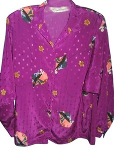 Diane von Furstenberg Top purple with print