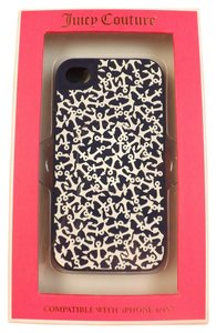 Juicy Couture Juicy Couture All Over Anchor Silicone iPhone 4/4S Case Navy New $35.00 MODEL # YTRUT268