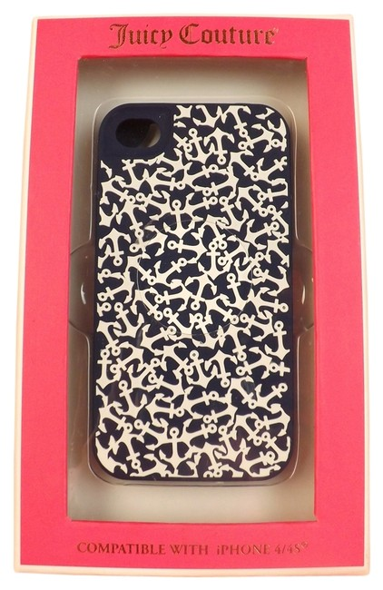 Item - Navy Blue/White All Over Anchor Silicone Iphone 4/4s Case Tech Accessory