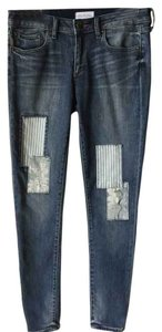Greywire Patchwork Skinny Jeans-Distressed