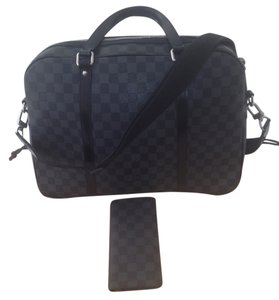 Louis Vuitton Black and Grey Travel Bag
